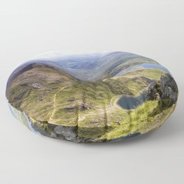 Snowdon Pyg and Miners Track Floor Pillow
