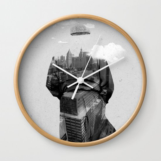 Get away from town Wall Clock