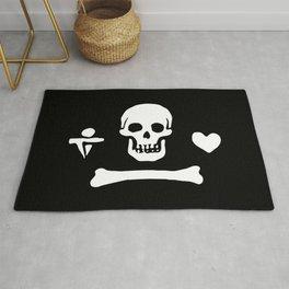Stede Bonnet Pirate Flag Jolly Roger Rug