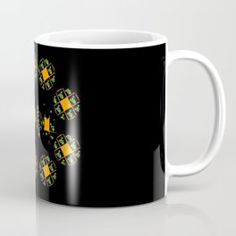 Orange and Green Spaces 120 Coffee Mug