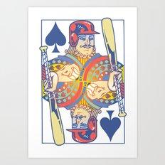 Baseball Card Art Print