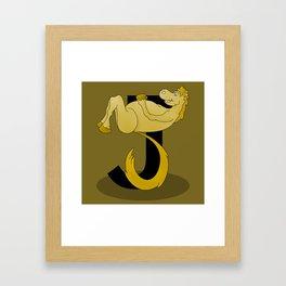 Pony Monogram Letter J Framed Art Print