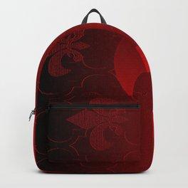 Fleur De Lis Red Holiday Pattern Backpack