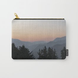 Summer mountain sunset - Courchevel, France - Soft pastel orange and grey travel photography Carry-All Pouch