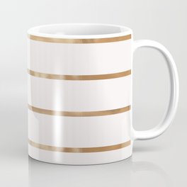 Elegant blush chic faux gold geometrical stripes Coffee Mug