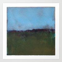 Blue Sky meets Green Ground Art Print