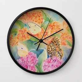 Butterfly Weed Wall Clock