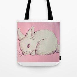 Pen Sketch Pastel Bunny Tote Bag