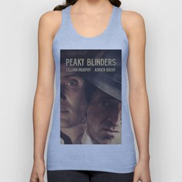 Peaky Blinders poster, Cillian Murphy is Thomas Shelby, Adrien Brody is Luca Changretta Unisex Tank Top