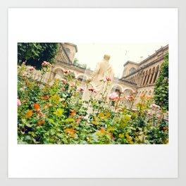 Garden at Hôtel-Dieu de Paris Art Print