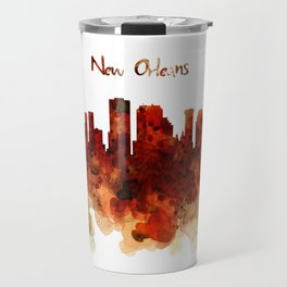 New Orleans watercolor skyline Travel Mug