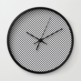 Moonless Night Polka Dots Wall Clock