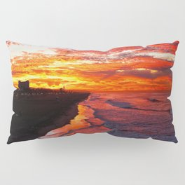 Sunrise Huntington Beach Pier   12/17/13 Pillow Sham