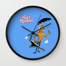 Iggy Poppins Wall Clock