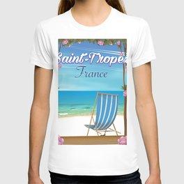 Saint-Tropez France Travel poster T-shirt
