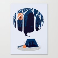 scary Canvas Prints featuring Scary story by SpazioC