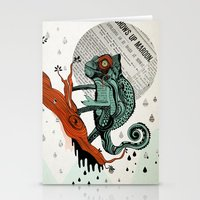chameleon Stationery Cards featuring CHAMELEON by taniavisual