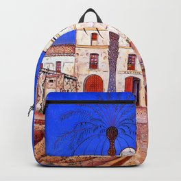 Joan Miro House with Palm Tree Backpack