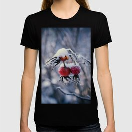 Rose hips and snow T-shirt