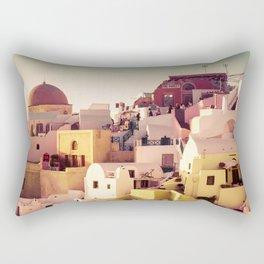 Oia Sunset #2 Rectangular Pillow