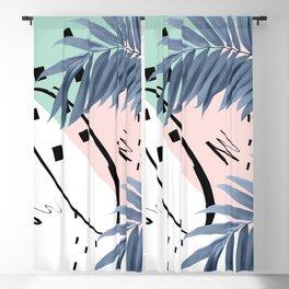 Summer Palms Cali Vibes Abstract Glam #1 #tropical #decor #art #society6 Blackout Curtain
