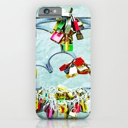 Love locks iPhone Case