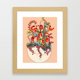 Grow a tree Framed Art Print
