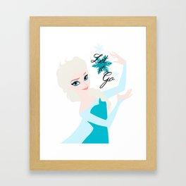 Elsa snowflake ~ Let it go Framed Art Print