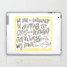 jumping off cliffs - kurt vonnegut quote Laptop & iPad Skin