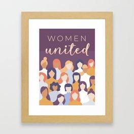 Women United International Day Design Framed Art Print