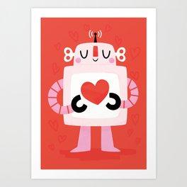 Love Robot Art Print