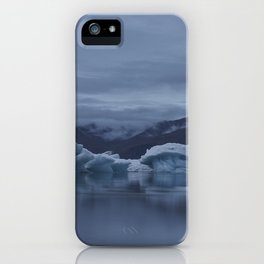 Icebergs at glaciar lagoon in Iceland iPhone Case