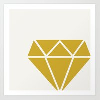 diamond Art Prints featuring DIAMOND by Allyson Johnson