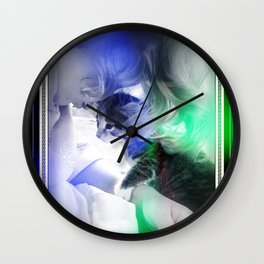 Ava and Cali Wall Clock