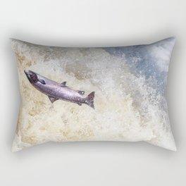 Fresh pink coloured Atlantic Salmon Rectangular Pillow