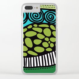Green Dive -Plongeon vers-textures Clear iPhone Case