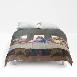 The Last Supper by Leonardo da Vinci Comforters