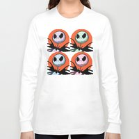 jack skellington Long Sleeve T-shirts featuring Jack Skellington Pixel Art by Katersbonneville