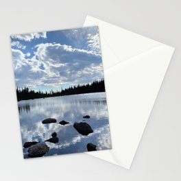 Watercolor Landscape, Two Rivers Lake 01, RMNP, Colorado Stationery Cards