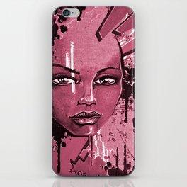 Street Girl rose iPhone Skin