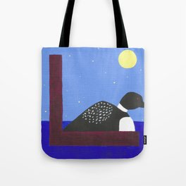 L is for Loon Tote Bag