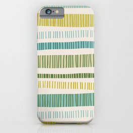 Lime Stripes iPhone Case