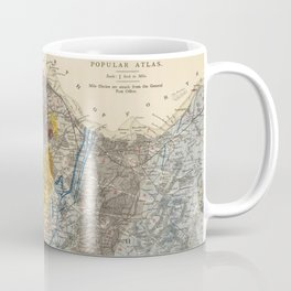 Vintage Geological Map of Edinburgh Scotland (1883) Coffee Mug