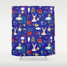 Tortoise and the Hare is one of Aesop Fables blue Shower Curtain