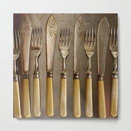 Vintage Cutlery Metal Print