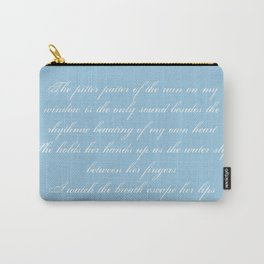 Pitter Patter Poem Typography Carry-All Pouch