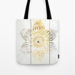Tricolor Aleph Mandala Tote Bag