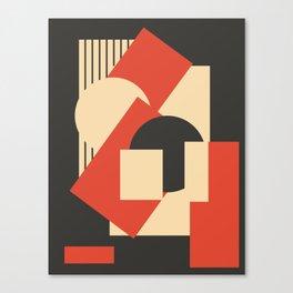 Geometrical abstract art deco mash-up Canvas Print