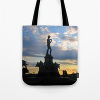 lucas david Tote Bags featuring David by Ken Seligson