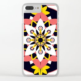 Poppy Blossom Clear iPhone Case